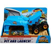 Pista de masini by Mattel Monster Truck Pit and Launch Shark Wreak cu 2 masinute