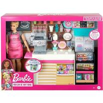 Barbie Set by Mattel Cooking and Baking, Cafenea cu papusa si accesorii
