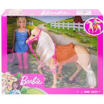 Barbie Set by Mattel Family Pets papusa cu cal