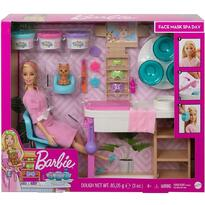 Barbie Set by Mattel Wellness and Fitness, O zi la salonul Spa, papusa cu figurina si accesorii