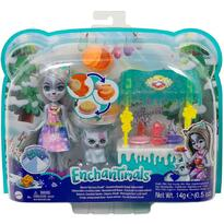 Enchantimals Set by Mattel papusa Winsley Wolf, figurina Trooper si accesorii