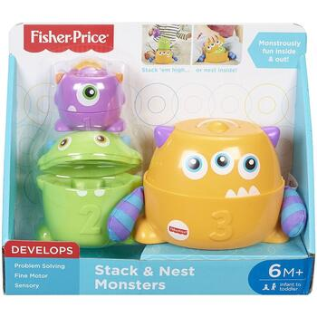 Fisher-Price Jucarie by Mattel Infant, Micutii monstri 3 in 1