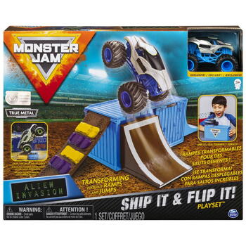 Spin Master Monster Jam Set Cascadorii In Container Alien Invasion