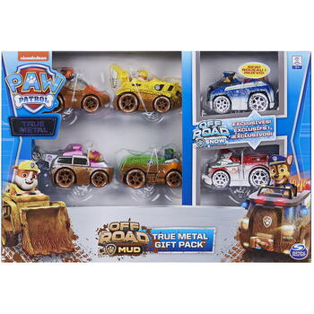 Spin Master Patrula Catelusilor Set 6 Masinute Metalice Off Road Edition