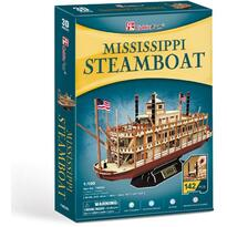 Cubicfun Puzzle 3d Nava Mississippi Steamboat Usa 142 Piese