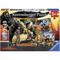Ravensburger Puzzle Dragons, 3x49 Piese