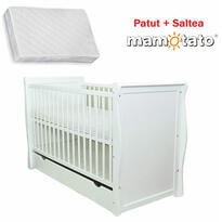 MAMO TATO Patut multifunctional Regal White + saltea Cocos