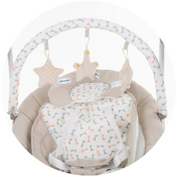 Chipolino Leagan electric si balansoar Paradise beige ribbon