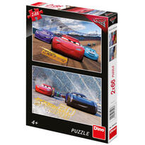 Puzzle 2 in 1 - Cars 3: Cursa cea mare ( 66 piese)