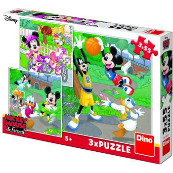 Dino Toys Puzzle 3 in 1 - Mickey si Minnie sportivii (55 piese)