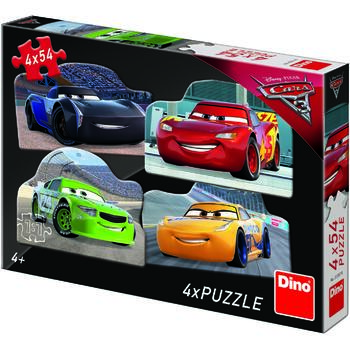 Dino Toys Puzzle 4 in 1 - Cars 3 (54 piese)