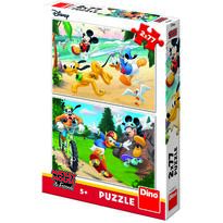 Dino Puzzle 2 in 1 - Mickey campionul (77 piese)