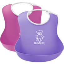 Set 2 bavete Soft Bib Pink/Purple