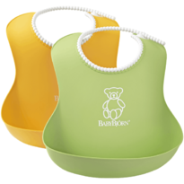 Set 2 bavete Soft Bib Green/Yellow