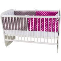 MyKids Lenjerie Colorful Stars Pink 9 piese 120 x 60 cm
