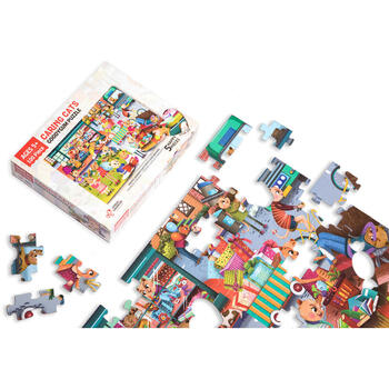 Chalk and Chuckles Puzzle cu surprize - Goodygum (100 piese)