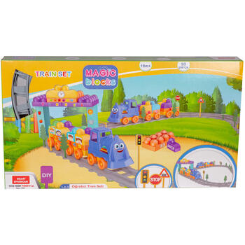 Set Tren 93 piese Magic Blocks Ucar Toys UC74