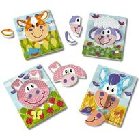 Melissa & Doug Set 4 puzzle Animale domestice