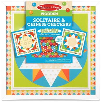 Melissa & Doug Joc de societate 2 in 1 Solitaire si Sah chinezesc