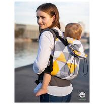 Luna Dream - Marsupiu ergonomic 2 in 1, Yellow Triangles