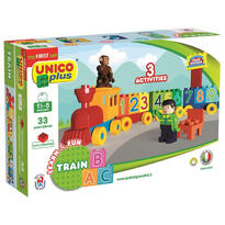 A-Haberkorn Joc de construit Unico Learn&Fun ABC Train 33pcs. A Haberkorn