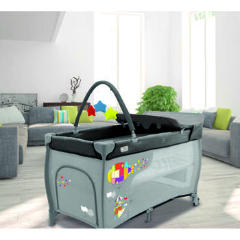 Asalvo Patut pliabil Travel Cot Mix Plus Zeppelin