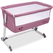 Asalvo Patut co-sleeper Side Crib Pink