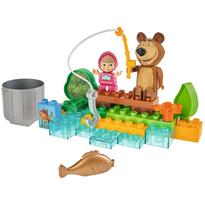 Set constructie Big Masha and the Bear Go Fishing 29 piese