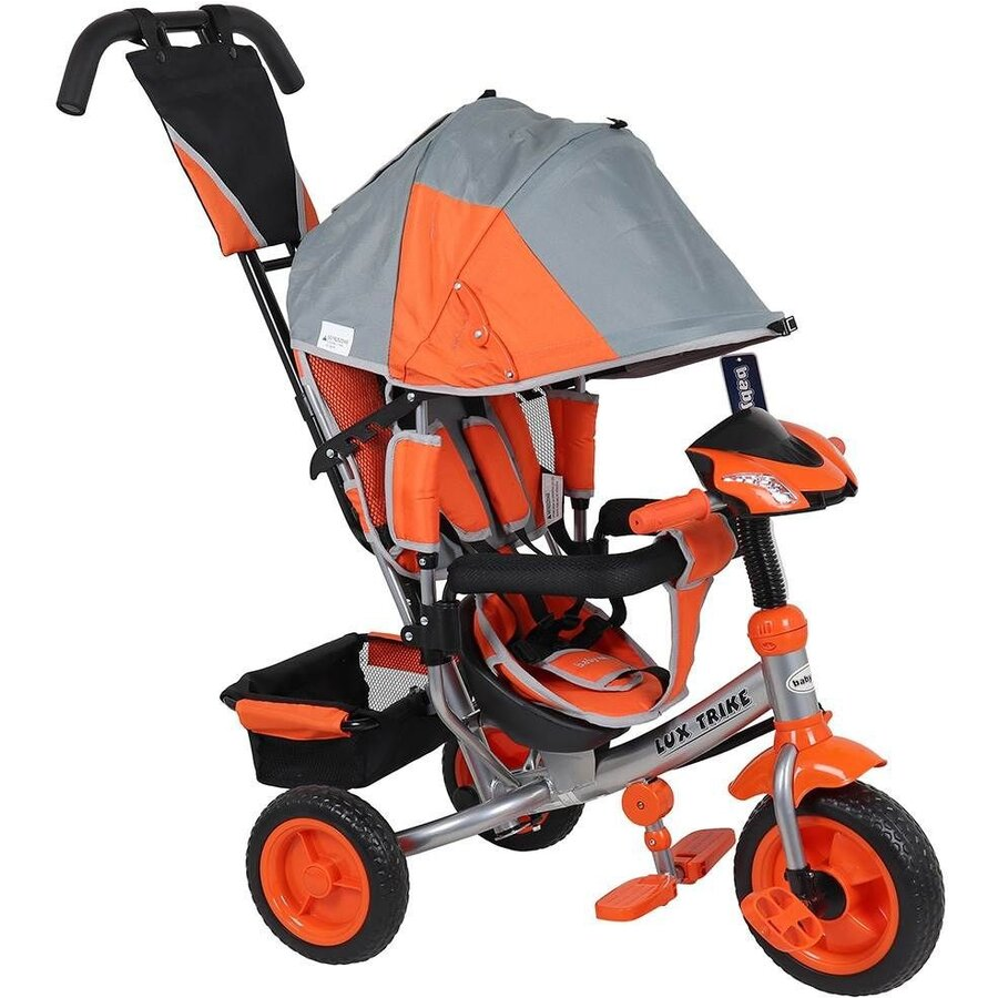 Tricicleta multifunctionala cu sunete si lumini Lux Trike grey-orange