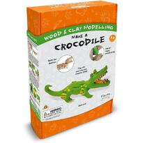 Fiesta Crafts Kit constructie lemn si argila – Crocodil