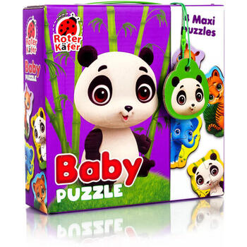 Roter Kafer Puzzle Maxi Bebelusi Animale de la Zoo, 13 piese
