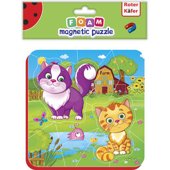 Roter Kafer Puzzle magnetic Pisicute