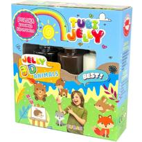 Tuban Set Tubi Jelly cu 3 culori - Animale
