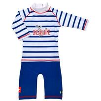 Swimpy Costum de baie SeaLife blue marime 86- 92  protectie UV