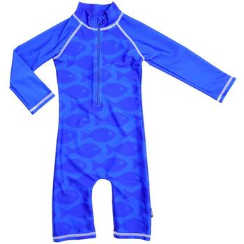 Swimpy Costum de baie Fish Blue marime 74-80 protectie UV