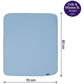 Clevamama Paturica din bumbac Waffle Weave 70 x 90 cm-Blue