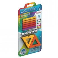 Set constructie magnetic Rainbow Orange 15 piese