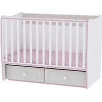 Lorelli Mobilier MATRIX NEW -  White & Pink Crossline