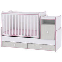 Lorelli Mobilier TREND PLUS NEW -  White & Pink Crossline