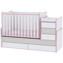 Lorelli Mobilier MAXI PLUS NEW -  White & Pink Crossline