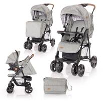 Lorelli Carucior Set  Ines -  cos auto inclus -  Dark Grey