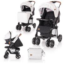 Lorelli Carucior Set  Ines -  cos auto inclus -  Grey & Black