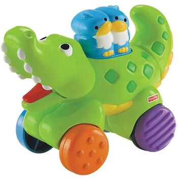 Fisher-Price Jucarie Fisher Price by Mattel Infant Press and Go Crocodil