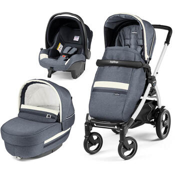 Carucior 3 In 1, Peg Perego, Book Plus 51 S, Titania White, Luxe Mirage