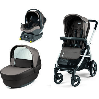 Carucior 3 In 1, Peg Perego, Book Plus 51 S, Titania, baza i-Size inclusa, Class Grey