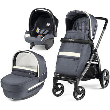 Carucior 3 In 1, Peg Perego, Book Plus S, Titania, Luxe Mirage