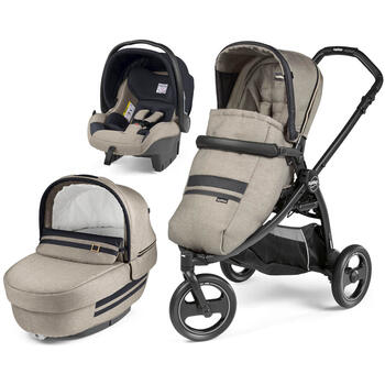 Carucior 3 in 1 Peg Perego Book Scout Matt Black Luxe Ecru