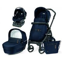Carucior 3 in 1,  Book 51 Rock Navy, baza i-Size inclusa, Peg Perego