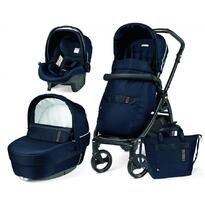 Carucior 3 In 1, Peg Perego, Book 51, Black and Gold, Rock Navy