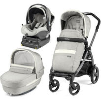 Carucior 3 in 1, Peg Perego, Book Plus 51 Titania, baza i-Size inclusa, Luxe Pure